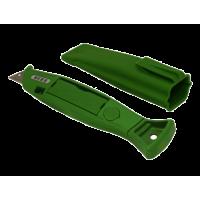 HERZ Zelený nôž v plastovom puzdre s 20 čepelami
